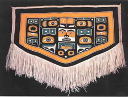 Bear Chilkat Blanket woven by Jennie Thlunaut